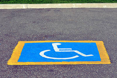 Incapacitated Photograph - Handicapped Reserved Parking. by Fernando Barozza