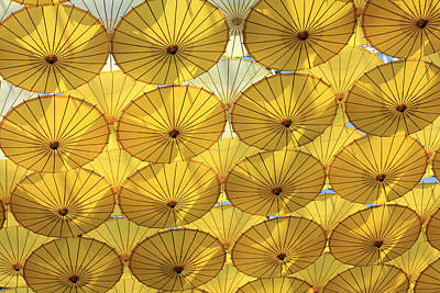 Photograph - Handing Parasols Iv by Mary Haber