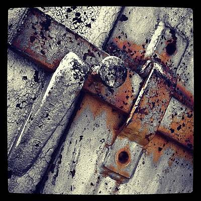 Rust Photograph - Handle by Dave Edens