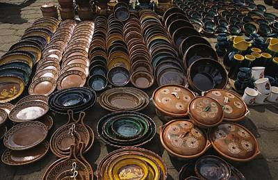 Patzcuaro Photograph - Handmade Ceramics And Pottery For Sale by Gina Martin