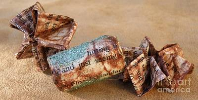 Recycled Jewelry Photograph - Handmade Paper Beads 1 by M Brandl
