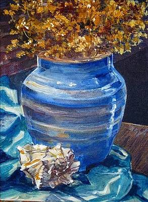 Painting - Handmade Vase by Denise Ivey Telep