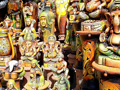 India Photograph - Handmade Vases And Sculptures by Sumit Mehndiratta
