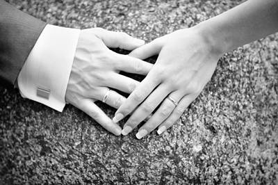 Promise Ring Photograph - Hands And Bands by Marta Holka