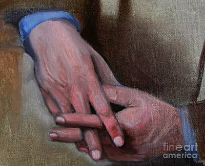 Painting - Hands In Oils by Kostas Koutsoukanidis