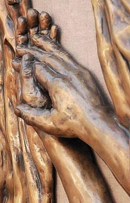 Hands Of Faith Print by David Schmerer