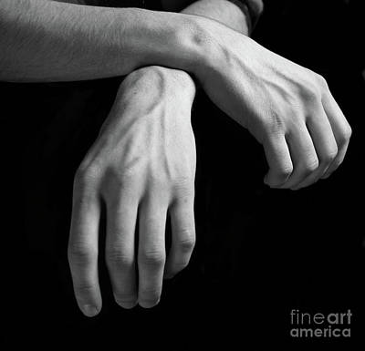 Hands Study Art Print by Gabriela Insuratelu