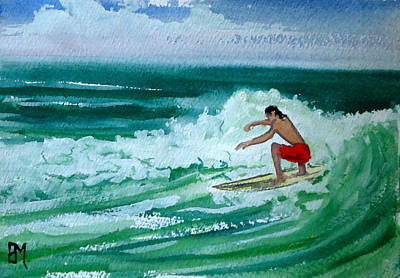 Surfing Drawing - Hang Loose by Pete Maier