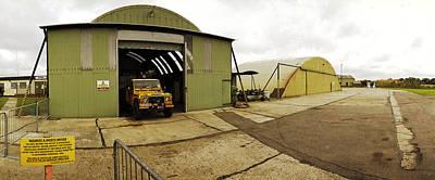 Hangars Raf Old Bucknham Original by Jan W Faul