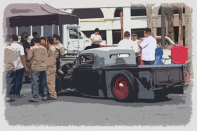 Hanging At The Car Show Art Print by Steve McKinzie