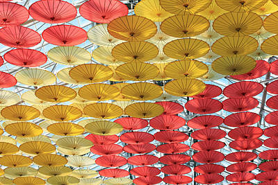 Photograph - Hanging Parasols I by Mary Haber