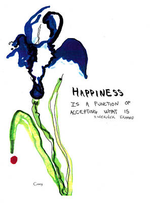 Drawing - Happiness by Casey Shannon