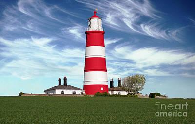 Happisburgh Lighthouse - Norfolk Art Print by Rod Jones