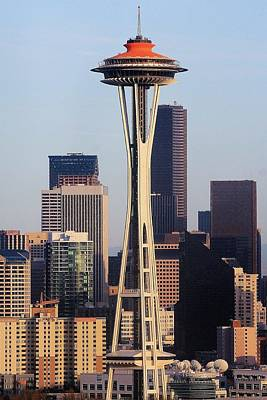 Photograph - Happy 50th Space Needle by Benjamin Yeager
