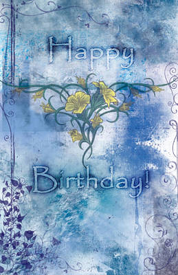 Dreams Painting - Happy Birthday - Card Design by Christopher Gaston