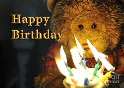 Happy Birthday Bear 2 Art Print
