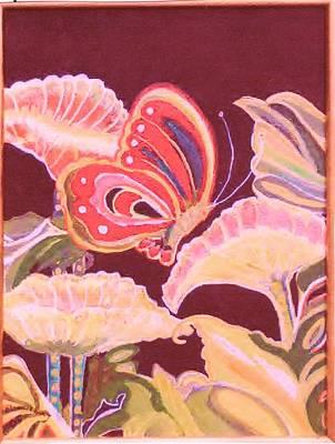 Happy Butterfly Art Print by Anne-Elizabeth Whiteway