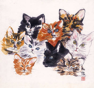 Painting - Happy Cats by Hilda Vandergriff