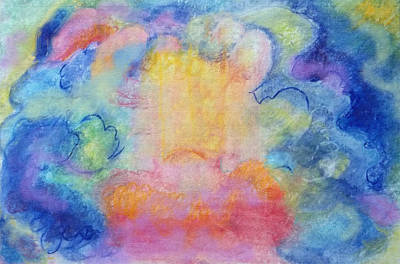Pastel - Happy Clouds by Anne Cameron Cutri