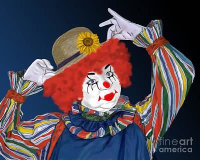 Painting - Happy Clown by Methune Hively