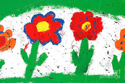 Happy Colorful Flowers Art Print by Gaspar Avila