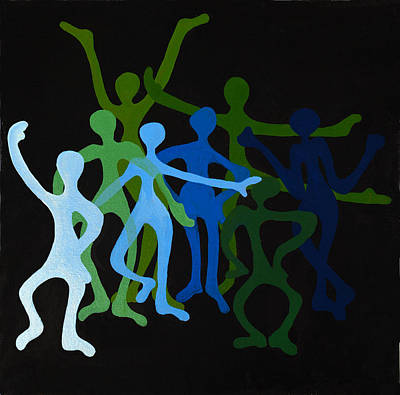Painting - Happy Dancers by Michelle Wiarda-Constantine