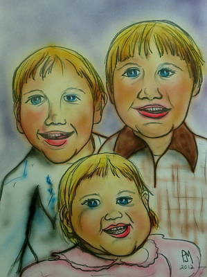 Caricature Drawing - Happy Days by Pete Maier