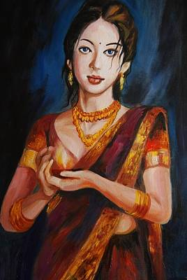 Painting - Happy Diwali by Parag Pendharkar