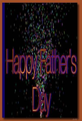 Happy Fathers Day Card Art Print by Debra     Vatalaro