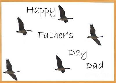 Happy Father's Day Dad Art Print by Dessie Durham