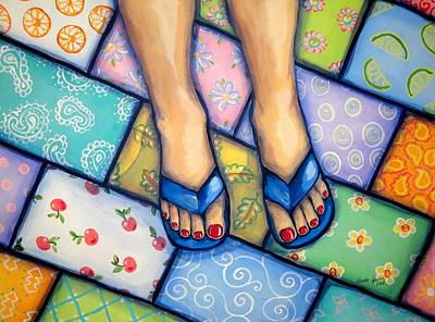Happy Feet Art Print by Sandra Lett