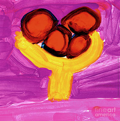Painting - Happy Fruit by Cortland Bobczynski Age Six