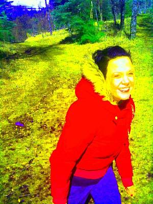 Greenworldalaska Photograph - Happy Girl by Cory Green