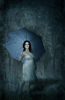 Rainy Day Mixed Media - Happy Girl by Svetlana Sewell