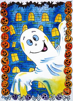 Painting - Happy Halloween - 1 by Zaira Dzhaubaeva