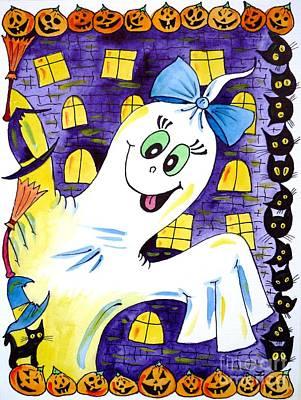 Painting - Happy Halloween - 2 by Zaira Dzhaubaeva