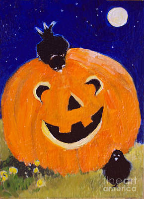 Painting - Happy Halloween by Diane Ursin