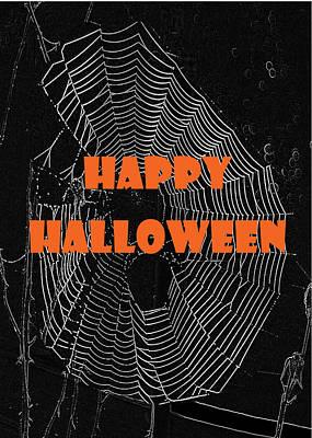 Photograph - Happy Halloween Web  by Judy Hall-Folde