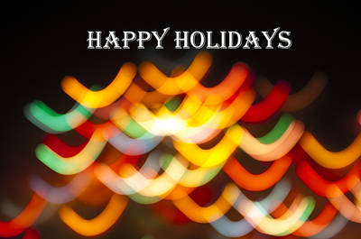 Photograph - Happy Holidays Greeting Card by Glenn Gordon