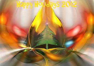 Xmas Cards Digital Art - Happy Holidays 2012 by David Lane