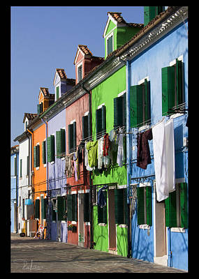 Photograph - Happy Houses  Card by Raffaella Lunelli