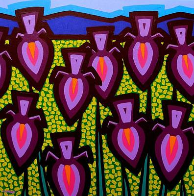 Warhol Art Painting - Happy Irises by John  Nolan