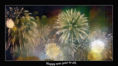 Happy New Year To All Art Print by Odon Czintos