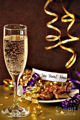 Champagne Photograph - Happy New Years by HD Connelly
