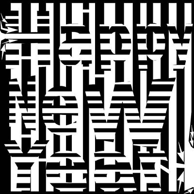 Yonatan Drawing - Happy New Years Maze by Yonatan Frimer Maze Artist