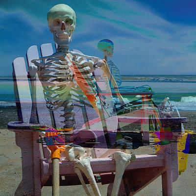 Happy Sam At The Beach Art Print by Betsy Knapp