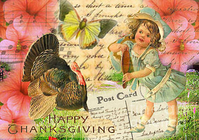 Digital Art - Happy Thanksgiving by Ruby Cross