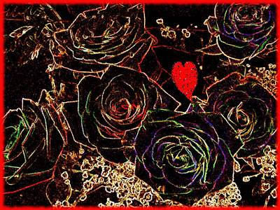 Painting - Happy Valentines Day by Renate Nadi Wesley