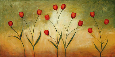 Painting - Happytulips by Lauren  Marems