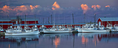 Photograph - Harbor At Sunset On Prince Edward Island by Randall Nyhof